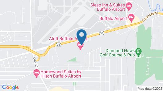 Quality Inn Airport Map