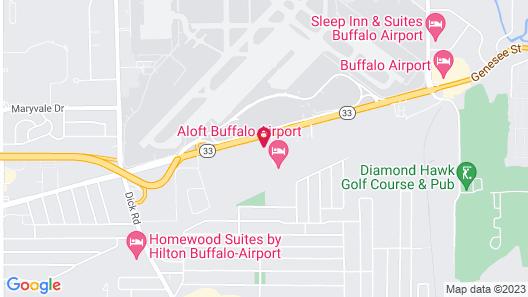 Hilton Garden Inn Buffalo Airport Map