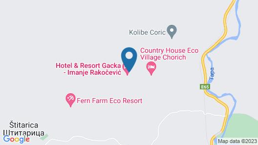 Hotel & Resort Gacka Map