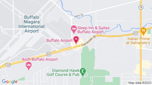 Buffalo Airport Hotel Map