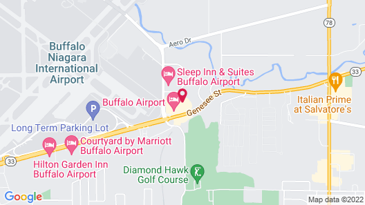 Best Western The Inn At Buffalo Airport Map