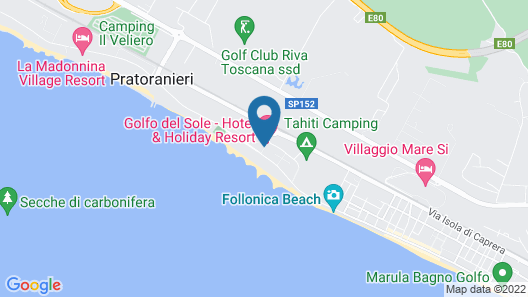 Hotel Golfo del Sole Map
