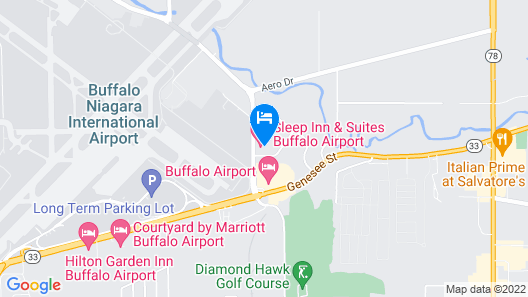 Sleep Inn & Suites Buffalo Airport Map
