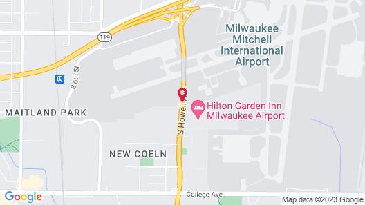 Hilton Garden Inn Milwaukee Airport Map