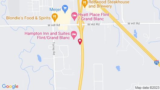 Hampton Inn and Suites Flint/Grand Blanc Map