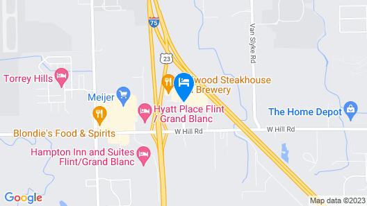 Holiday Inn Flint, an IHG Hotel Map