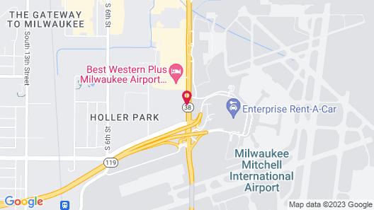 Super 8 by Wyndham Milwaukee Airport Map