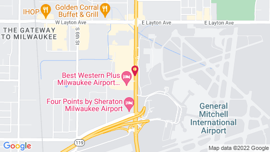 Motel 6 Milwaukee South - Airport Map