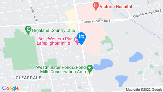 Best Western Plus Lamplighter Inn & Conference Centre Map
