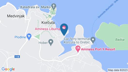 Aminess Liburna Hotel Map