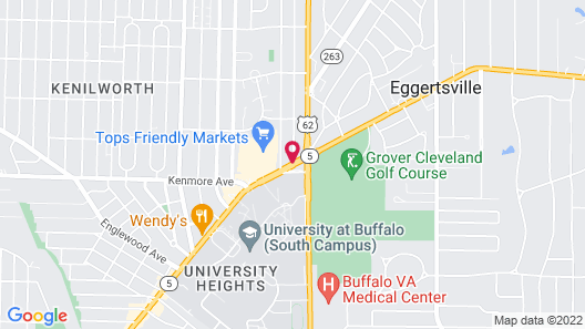 University Manor Inn Map
