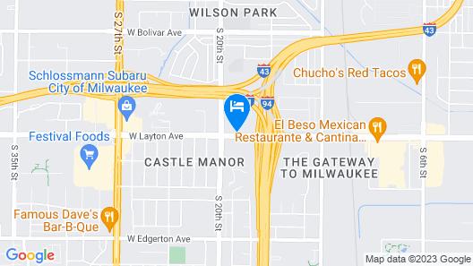 Travelodge by Wyndham Milwaukee Map