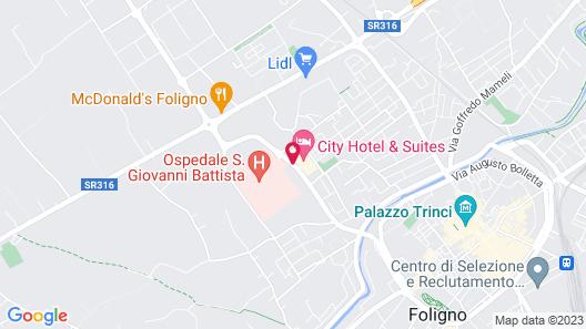 City Hotel & Suites Foligno Map