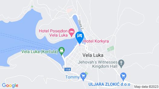 Hotel Korkyra Map