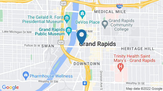 Courtyard by Marriott Downtown Grand Rapids Map