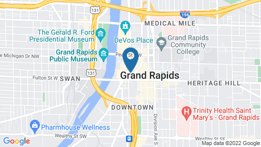 AC Hotel by Marriott Grand Rapids Downtown Map