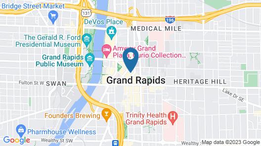 CityFlatsHotel Grand Rapids  Map