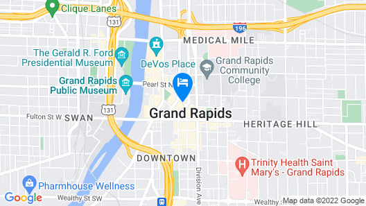 CityFlatsHotel Grand Rapids  Map