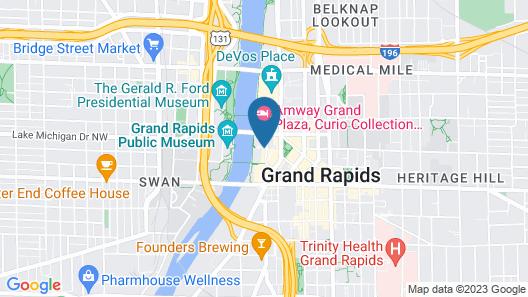JW Marriott Hotel Grand Rapids Map