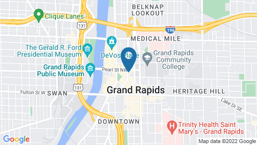 Hyatt Place Grand Rapids Downtown Map