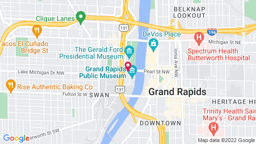 Holiday Inn Grand Rapids Downtown, an IHG Hotel Map