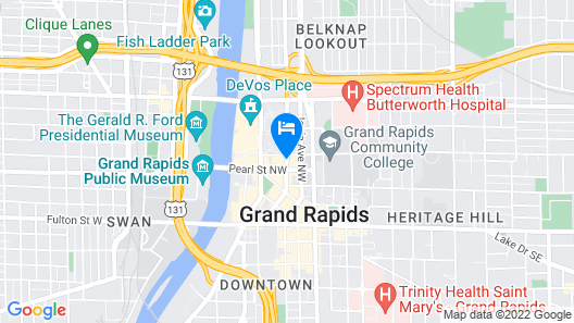 Homewood Suites by Hilton Grand Rapids Downtown Map