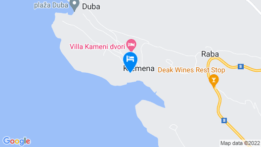 Holiday Villa With a Beautiful Panoramic sea View Map