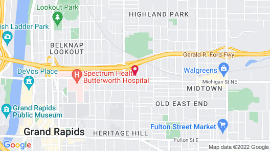 Hampton Inn & Suites Grand Rapids Downtown Map