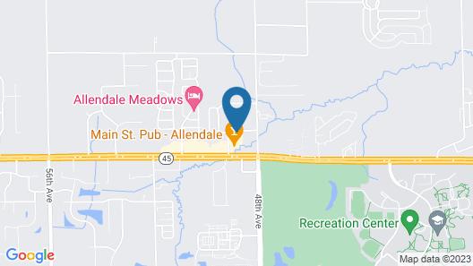Sleep Inn & Suites Allendale Map
