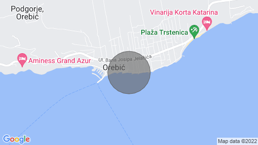 Seafront Villa Agnes, old Captains House, Beachfront Villa With Private Pool Map