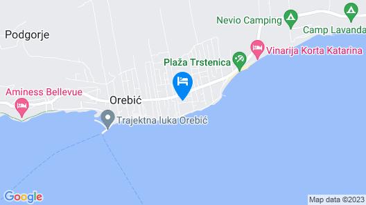 Apartmani Costa Rica Orebić Map