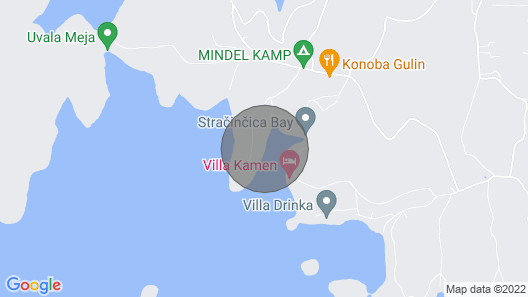 Holiday House Pelegrin Gordana Map