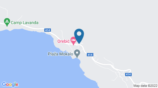 Stunning Home in Orebic With Wifi and 1 Bedrooms Map