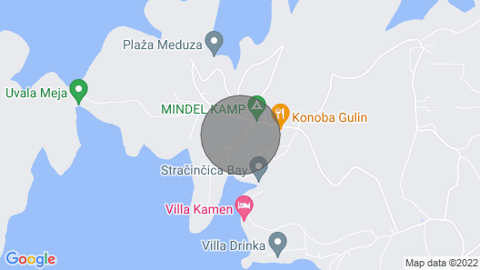 Villa Maja on Island Korcula Map