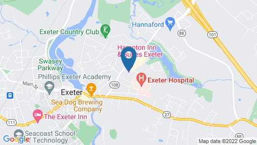 Hampton Inn & Suites Exeter, NH Map