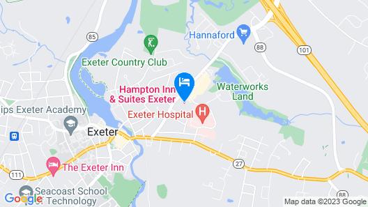 Hampton Inn & Suites Exeter, NH Map