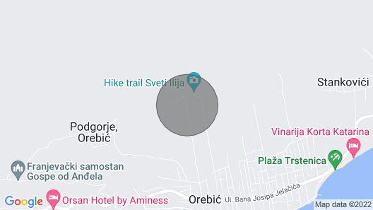 4 Bedroom Accommodation in Orebic Map