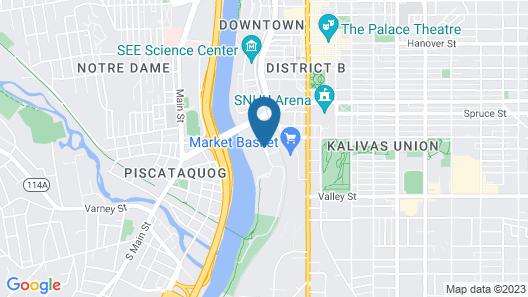 Hilton Garden Inn Manchester Downtown Map
