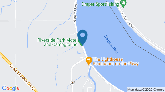 Riverside Park Motel and Campground Map