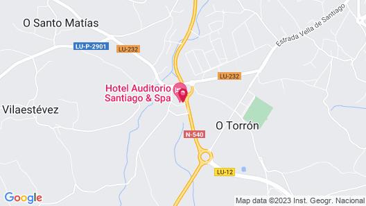 Hotel Auditorio Santiago & SPA Map