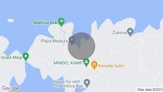 Holiday House Villa Bistrana - Cove Tankaraca , Island Korcula, Croatia Map