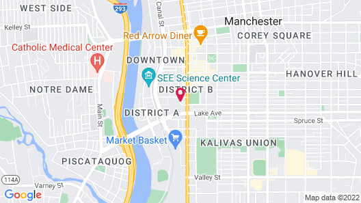 DoubleTree by Hilton Manchester Downtown Map