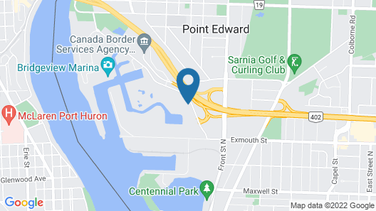 Holiday Inn Express Sarnia - Point Edward Map