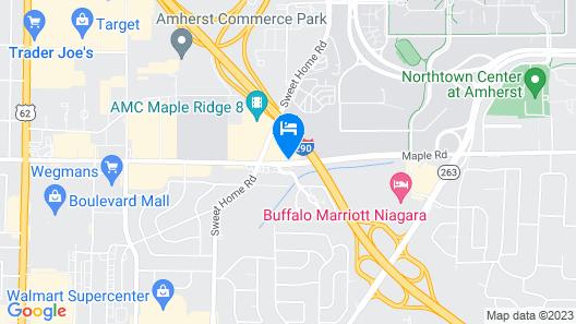 Motel 6 Amherst, NY - Buffalo Map
