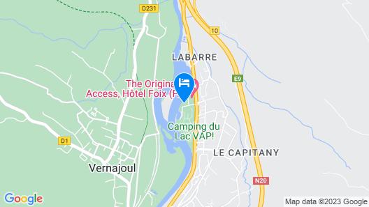Hotel du Lac Foix (ex Inter-Hotel) Map