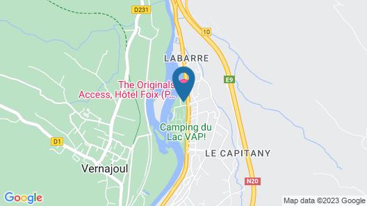 The Originals Access, Hôtel Foix (P'tit Dej-Hotel) Map