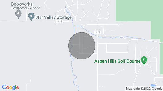 Entire Home at the Base of Star Valley Ranch Map