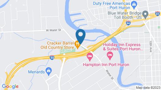 Best Western Port Huron Blue Water Bridge Map