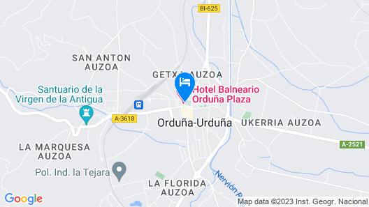 Hotel Balneario Orduña Plaza Map