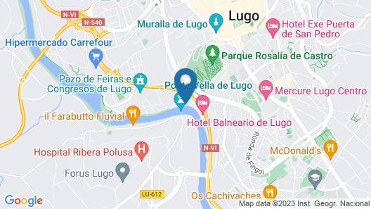 Hotel Balneario de Lugo Map